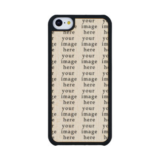 Customizable Gifts   Design Your Own Carved® Maple iPhone 5C Slim Case
