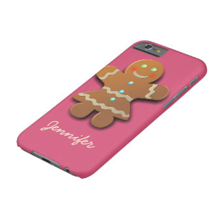 Customizable Gingerbread Cookie Barely There iPhone 6 Case