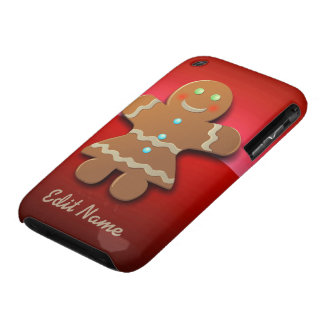 Customizable Gingerbread Cookie iPhone 3 Covers