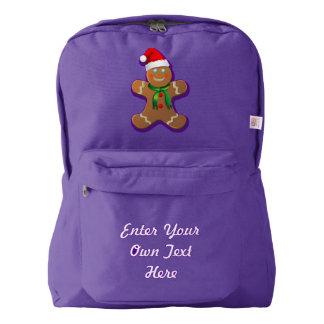Customizable Gingerbread Man Backpack