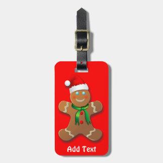 Customizable Gingerbread Man Cartoon Tag For Bags