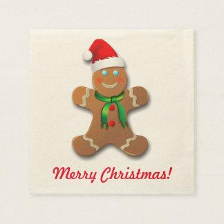 Customizable Gingerbread Man Disposable Napkins