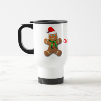 Customizable Gingerbread Man Travel Mug