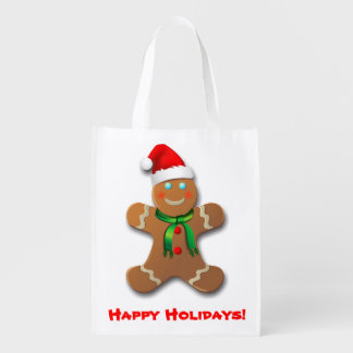 Customizable Gingerbread Man Market Tote