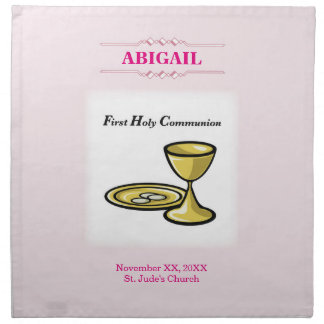 Customizable, Girl Communion Body and Blood Napkin