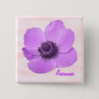 Customizable Girly Pink Anemone Button