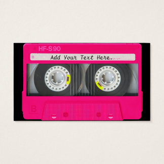 Customizable Girly Pink Cassette Tape Business Card