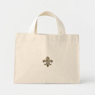 Customizable Gold Fleur de Lys Canvas Tote Canvas Bags