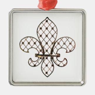 Customizable Gold Fleur de Lys Ornament