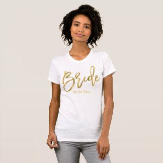 Customizable Gold Foil Effect Bride Shirts