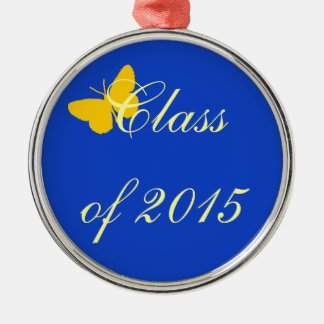 Customizable Graduation - Blue and Gold Butterfly Ornament