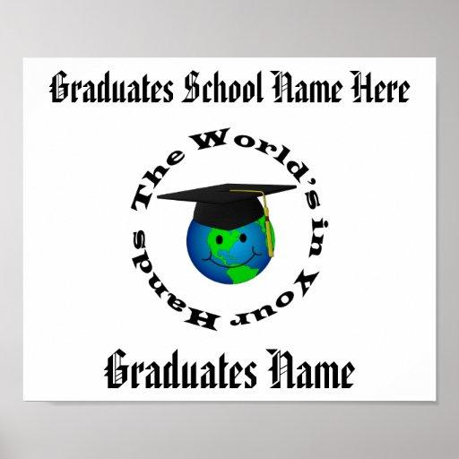 Customizable Graduation Certificate Posters