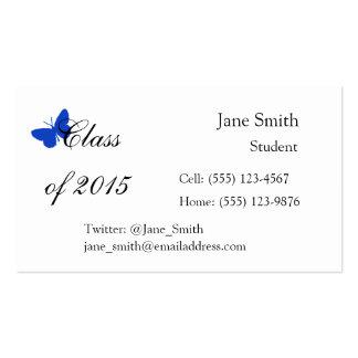 Customizable Graduation Class - Blue Butterfly Pack Of Standard Business Cards
