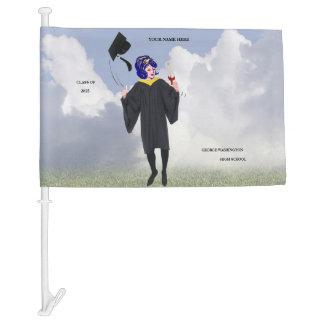 Customizable Graduation Design Keepsake Car Flag