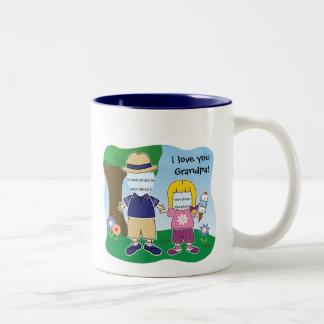 Customizable Grandpa's Girl Two-Tone Coffee Mug