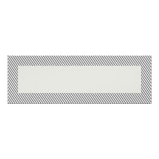 "Customizable Gray Stripe Bordered 36""x12"" Banner Poster"