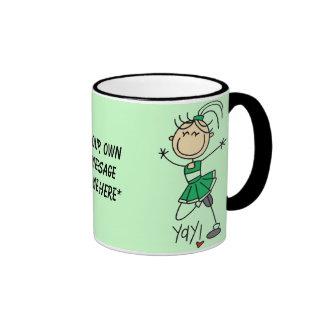 Customizable Green Cheerleader Mug