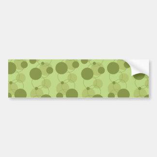 Customizable Green Dots Bumper Sticker