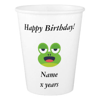 Customizable Green Frog Happy Birthday