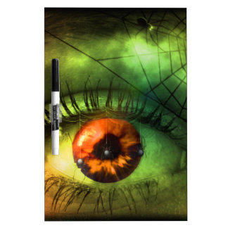 customizable Green Halloween Nightmare Dry Erase White Board