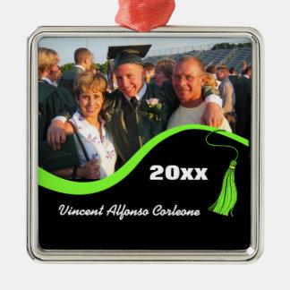 Customizable Green Tassel Graduation Ornament