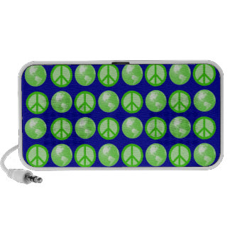Customizable Green World Peace Travel Speaker
