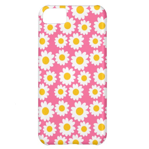 Customizable Groovy Daisies iPhone 5C Covers