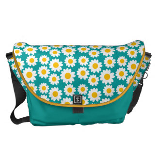 Customizable Groovy Daisies Courier Bags