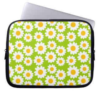 Customizable Groovy Daisies Laptop Sleeves
