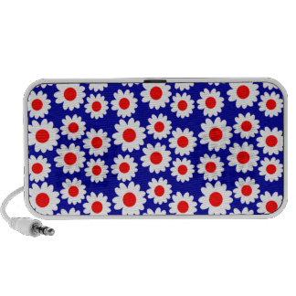 Customizable Groovy Daisies Mp3 Speakers