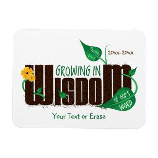 Customizable Growing in Wisdom Vinyl Magnets