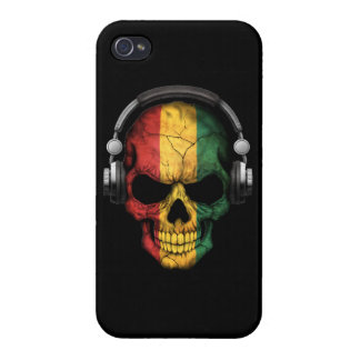 Customizable Guinea Dj Skull with Headphones iPhone 4 Cover