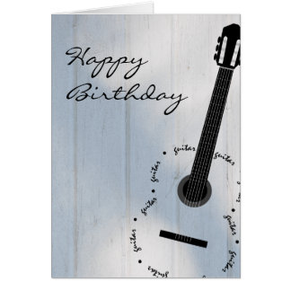 Customizable Guitar Card