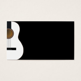 Customizable Guitar Music Business Card