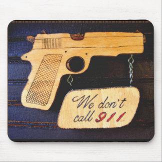 Customizable Gun Humor Mouse Mat