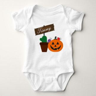 Customizable Halloween - Mochi Haunted House Baby Bodysuit