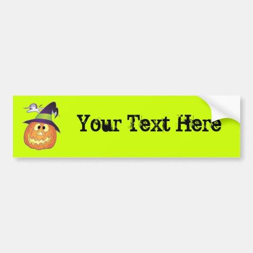 Customizable Halloween Pumpkin Bumper Stickers
