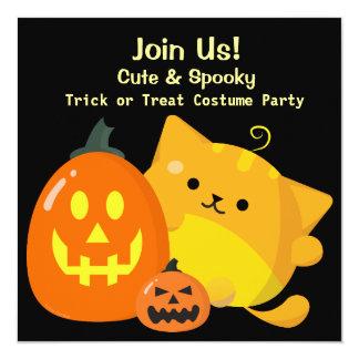 Customizable Halloween - Pumpkin Cat Card