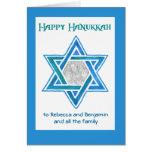Customizable Hanukkah Photo Card, Star of David