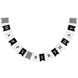 Customizable Happy Birthday Party Banner