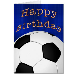 Customizable Happy Birthday Soccer Cards