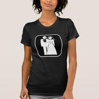 Customizable: Happy Happy Wedding (dark frame) Tshirt