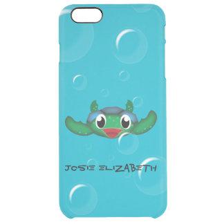 Customizable Happy Sea Turtle Clear iPhone 6 Plus Case