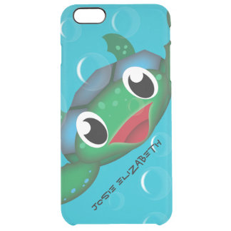 Customizable Happy Sea Turtle (Lg) Uncommon Clearly™ Deflector iPhone 6 Plus Case