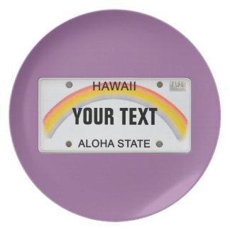 (Customizable) Hawaii License Plate