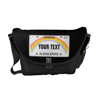 (Customizable) Hawaii License Plate Courier Bag