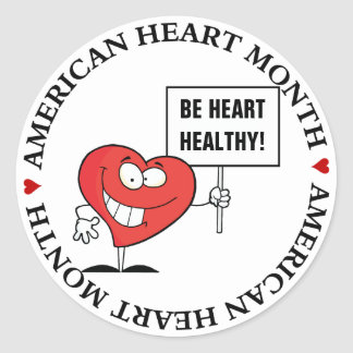 Customizable Heart Healthy Slogan Sign Stickers