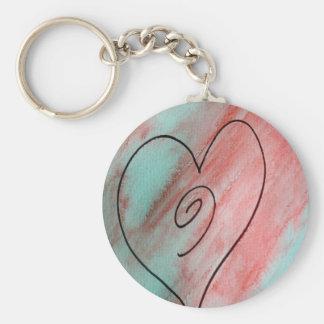 Customizable Heart Key Chain