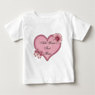 Customizable Heart of Love Infants Long Sleeve T Tshirts