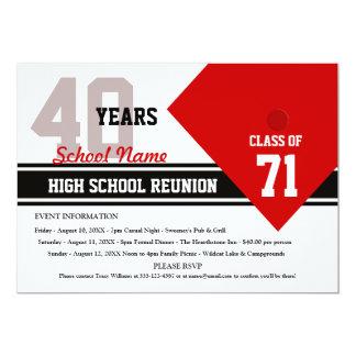 "Customizable High School Class Reunion 5"" X 7"" Invitation Card"